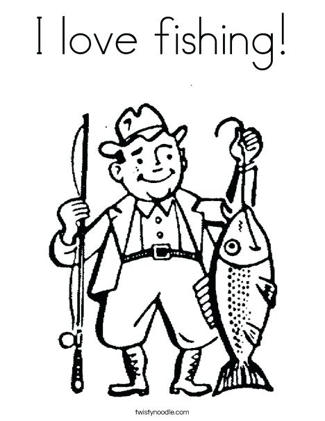 468x605 Fishing Coloring Pages Fisherman Coloring Page Fishing Lure