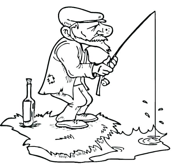 600x566 Fishing Coloring Pages Fishing Boat Coloring Pages Here Are