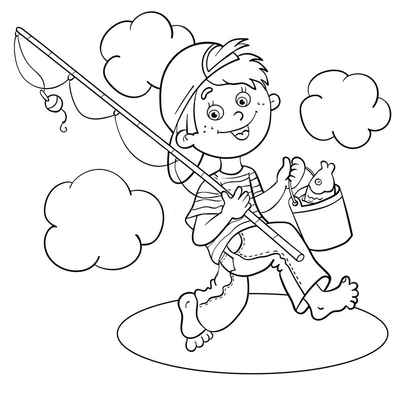 800x800 Fishing Pole Coloring Page Download Coloring Page Outline