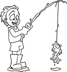 281x300 Fishing Pole Coloring Pages Catching Fish With Fishing Pole
