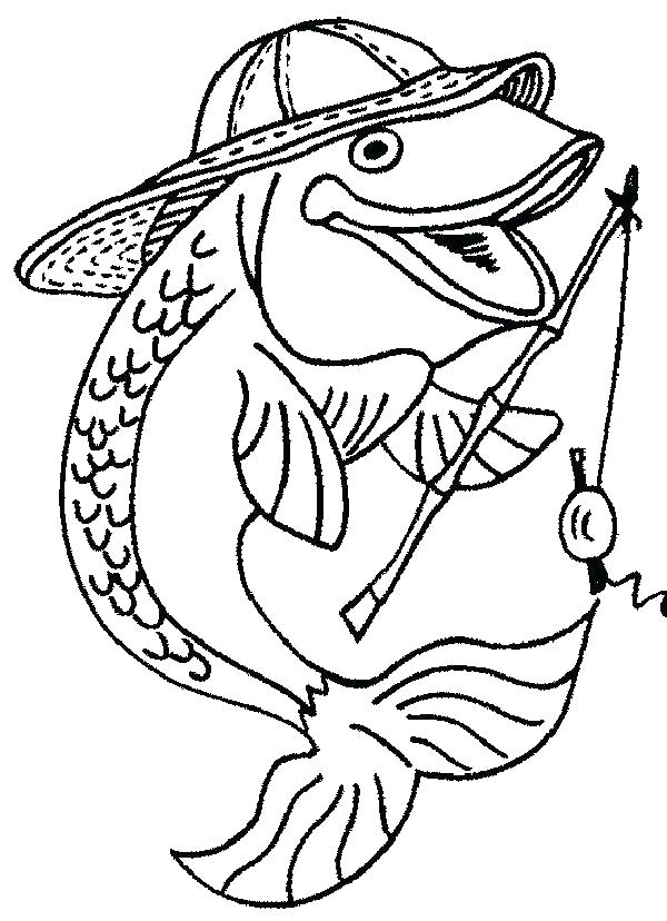 600x828 Free Coloring Pages Fish Fishing Pole Coloring Page Fishing
