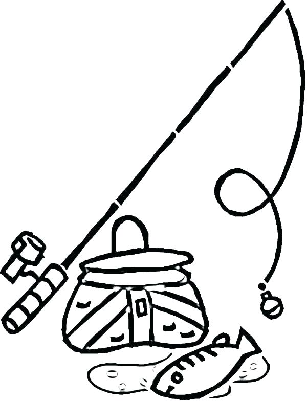600x786 Fishing Pole Coloring Page