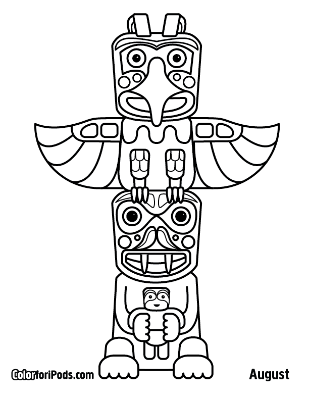 612x792 Native Totem Pole Coloring Pages Free Coloring Pages Piikea St