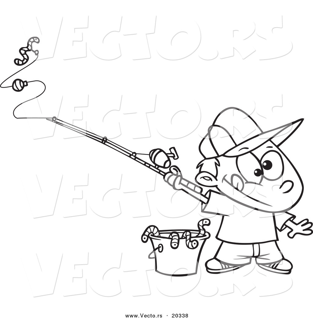 1024x1044 Fishing Pole Coloring Pages Vector Of A Cartoon Fishing, Fishing