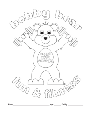 Fitness Coloring Pages