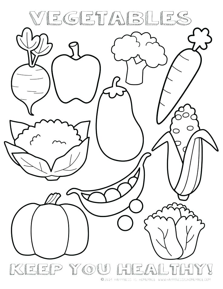 736x952 Fitness Coloring Pages Health Also Healthy Vegetables Page Sheet