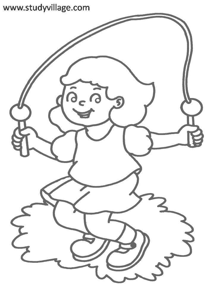 720x960 Exercise Coloring Pages Printable