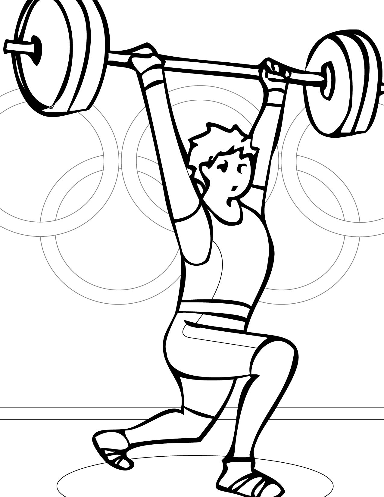 1275x1650 Weightlifting Coloring Page