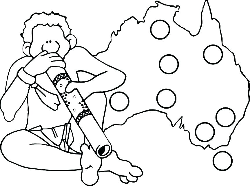 863x644 Australian Outback Coloring Pages Outback Colouring Pages Flag