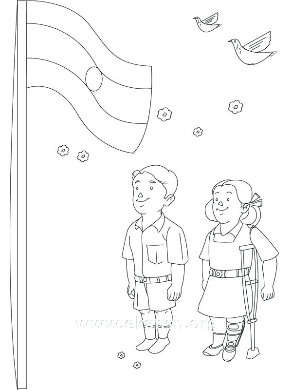 600x800 Flag Of India Coloring Page Flag Coloring Page Independence Day