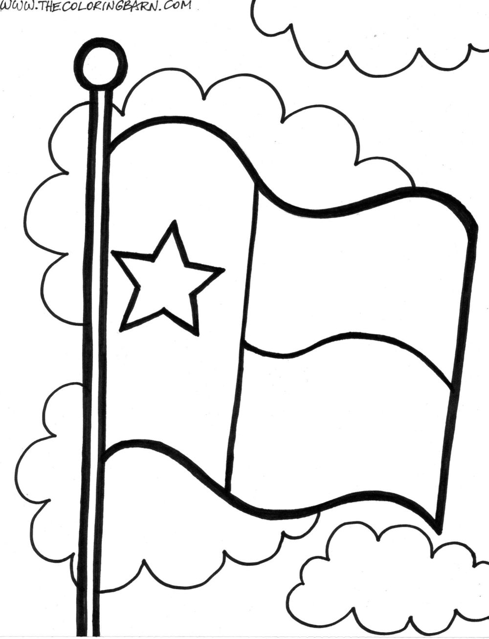 1000x1308 Revolutionary Coloring Pages Of Texas Flag Pag
