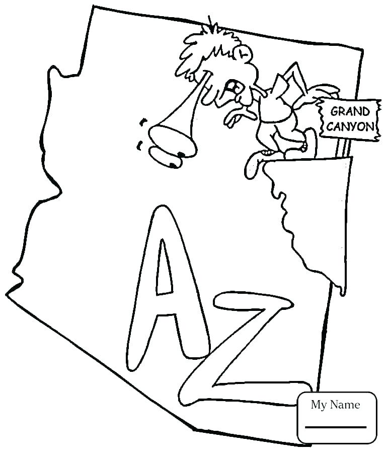765x899 State Flag Coloring Pages State Flag Coloring Page Map Coloring