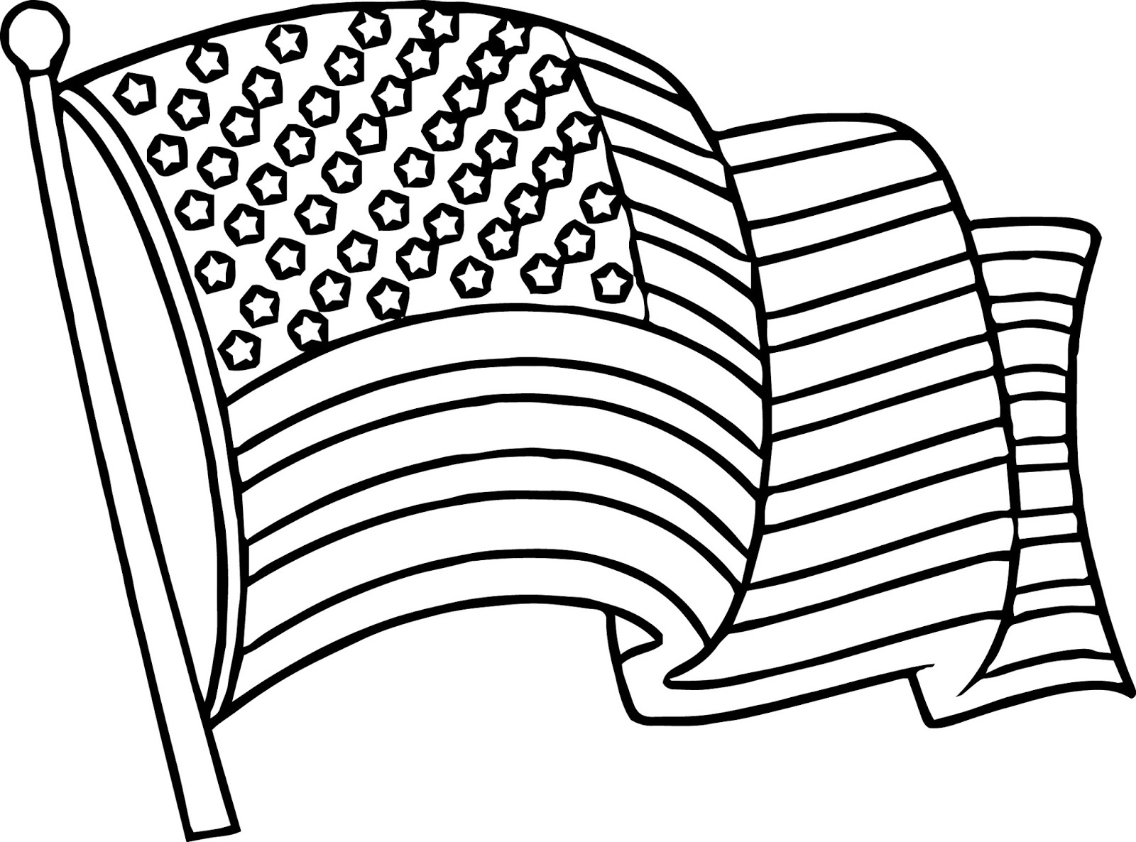 1600x1186 Us Flag Coloring Page New American Flag Coloring Pages Best