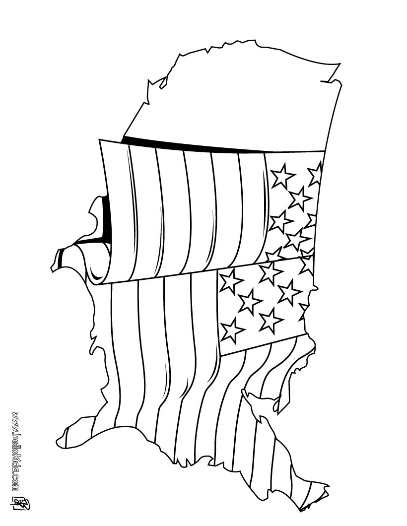 820x1060 Us Flag Coloring Pages