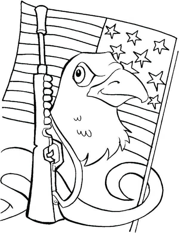 600x779 Flag Day Coloring Pages Printable Eagle Day Coloring Pages