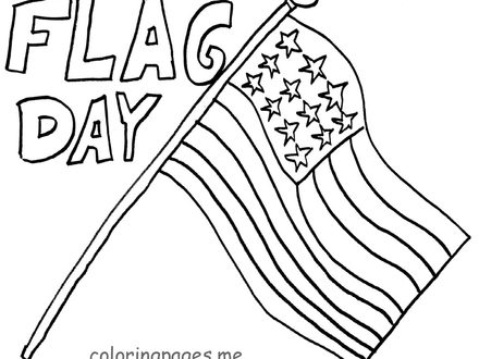 440x330 Flag Day Coloring Pages Printable Free Large Images, Flag Day