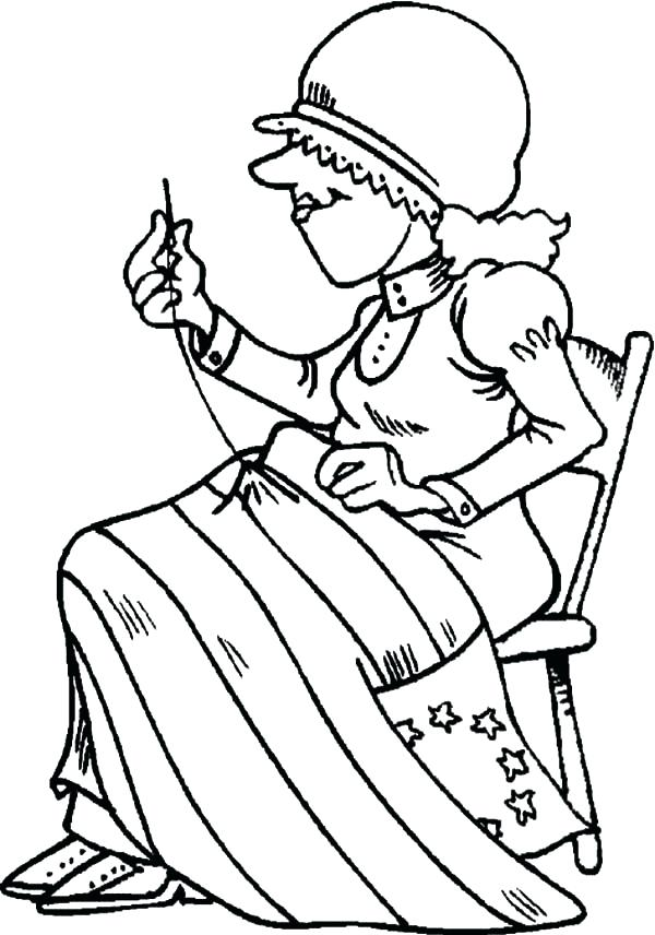 600x856 Abe Lincoln Coloring Page Flag Sewing Of Flag Day Coloring Pages