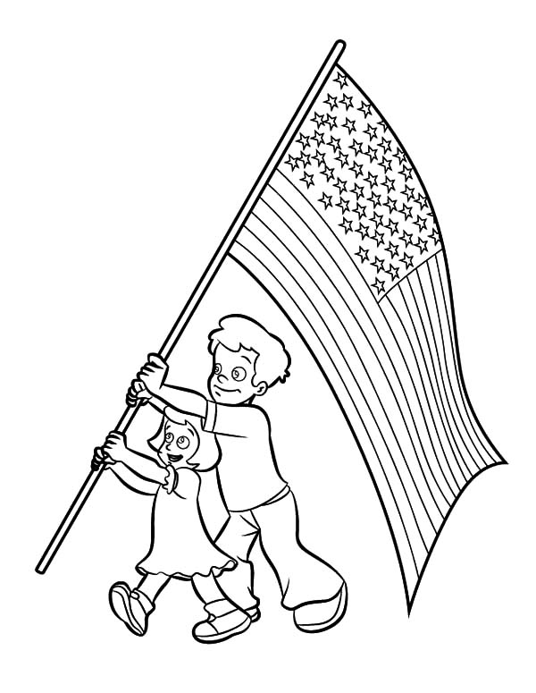 600x775 Happy Brother And Sister On Flag Day Coloring Pages