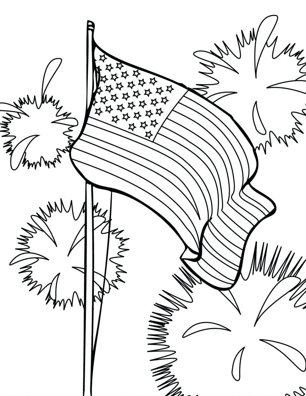 1024x1325 Coloring Pages Flag Coloring Pages Fireworks Free Printable Day