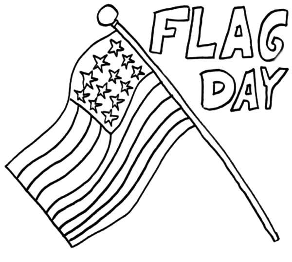 600x538 Flag Day Coloring Pages