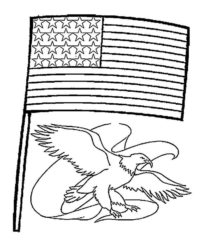 700x818 Flag Day Coloring Pages