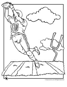 Flag Football Coloring Pages
