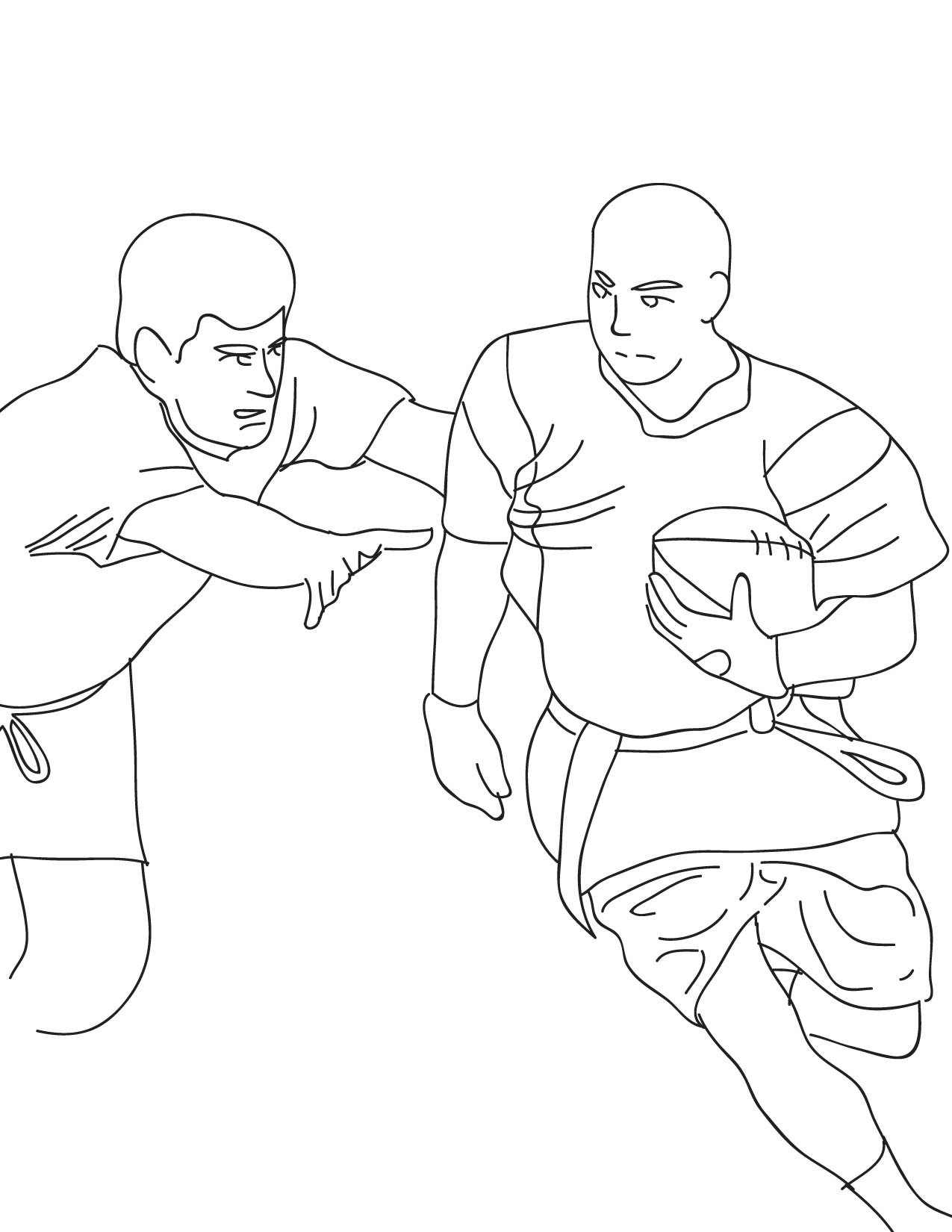 1275x1650 Flag Football Coloring Page