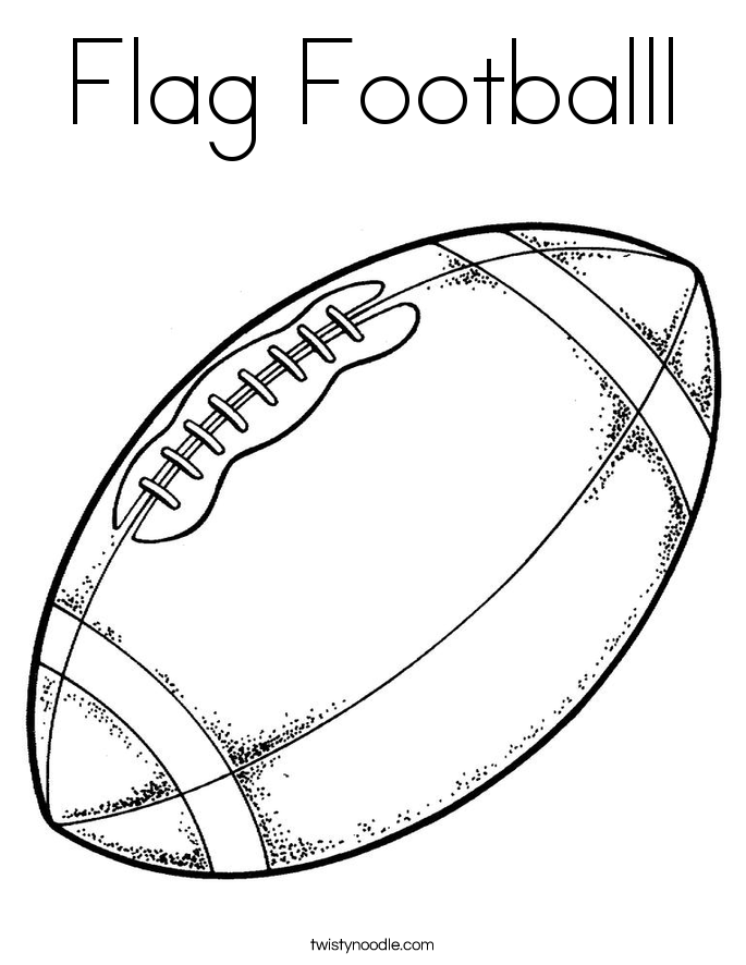 685x886 Flag Footballl Coloring Page
