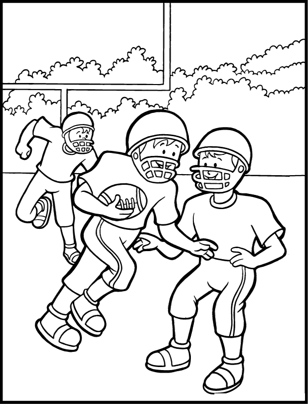 610x798 Football Coloring Pages Online Drawing