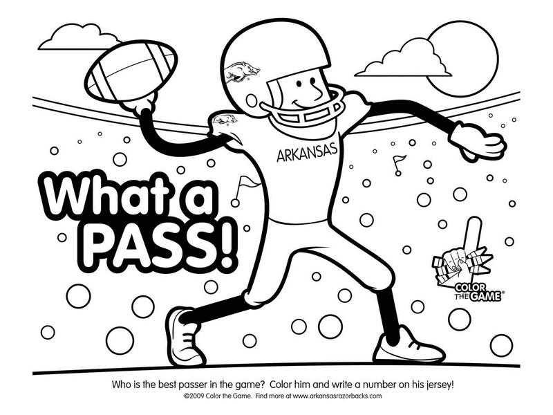 800x600 Football Coloring Pages Printable