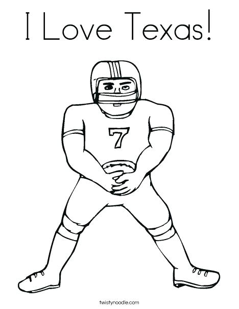 468x605 Texas Coloring Pages Coloring Pages Football Player Coloring Page
