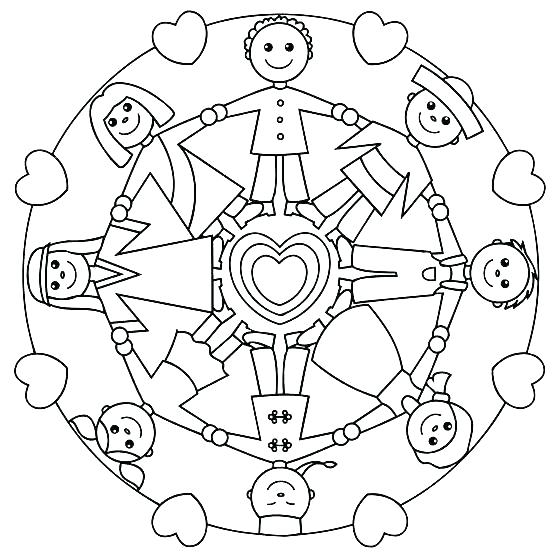 558x553 World Coloring Page Children Of The World Coloring Pages Children