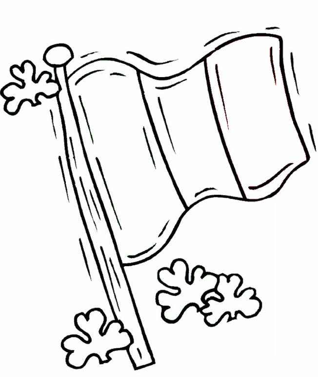 652x772 Irish Colouring Pages Irish Flag Coloring Page Coloring Book