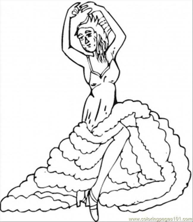650x750 Flamenco Coloring Page