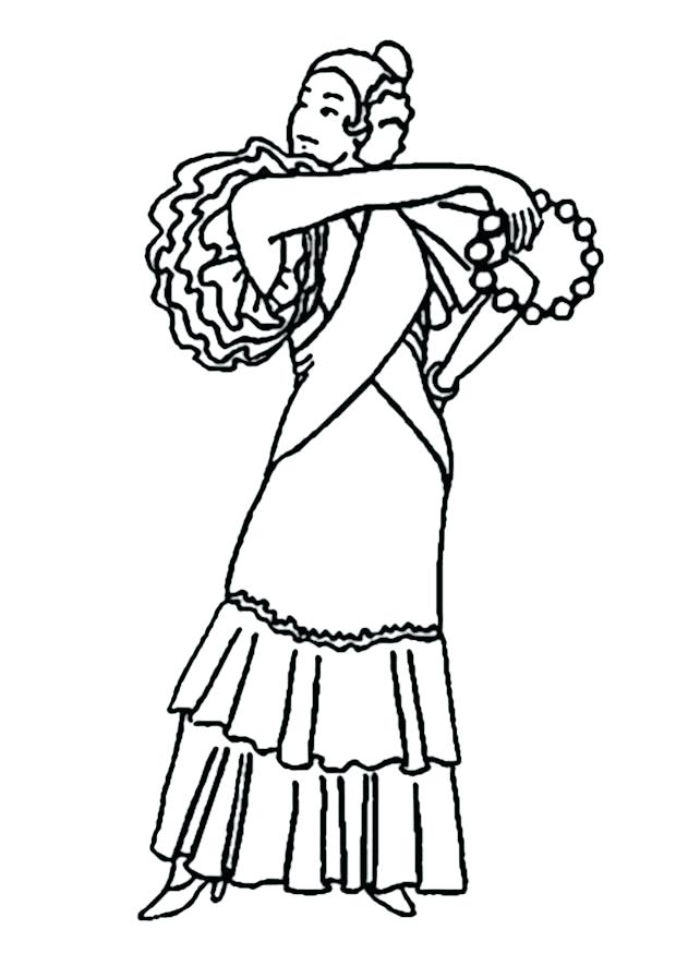620x875 Flamenco Dancer Coloring Page Download Large Image Flamenco