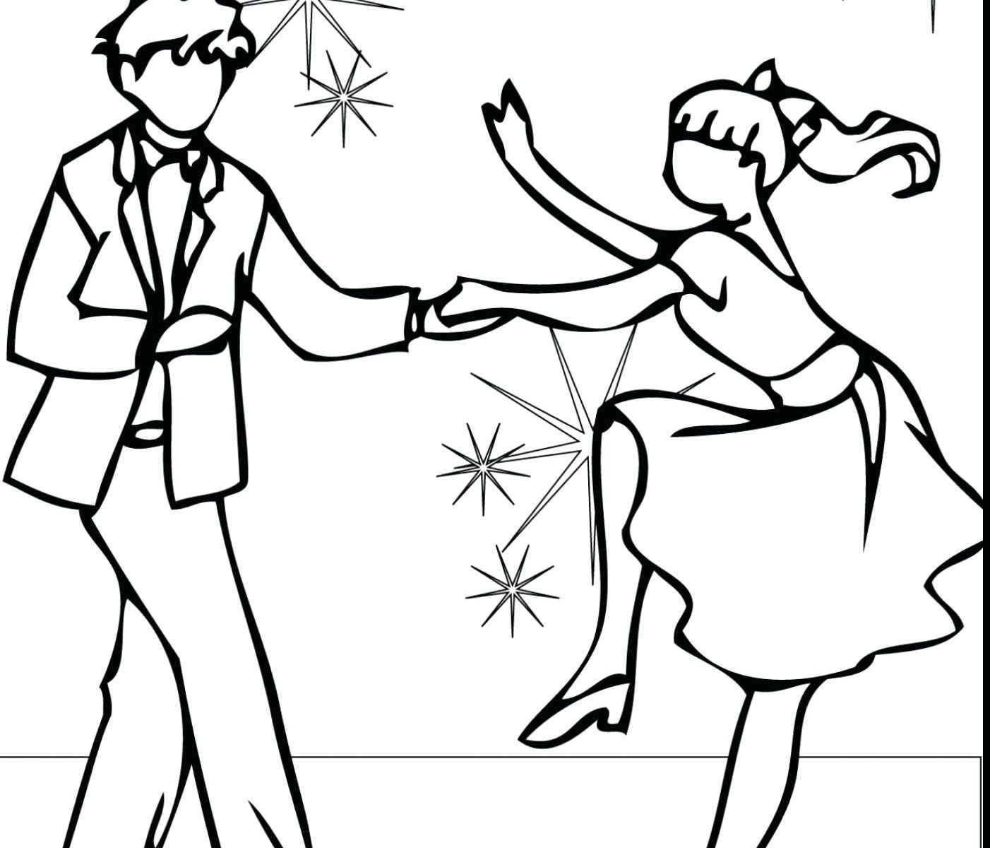 1402x1200 Outstanding Flamenco Dancer Coloring Page Ensign