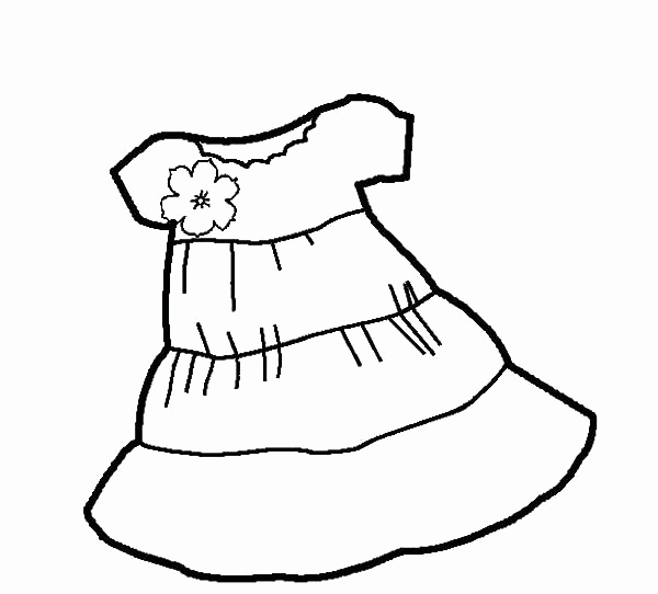 600x542 Coloring Page Of A Dress Stock Flamenco Dancer Coloring Page Dress