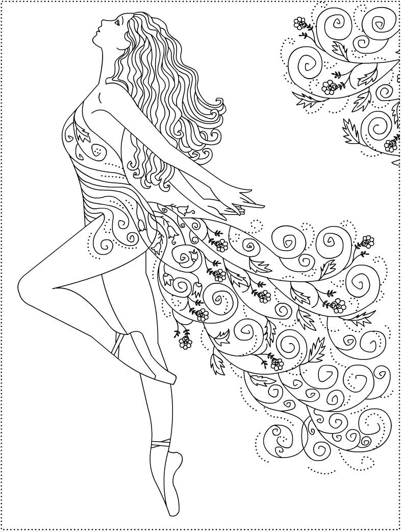 786x1040 Dance Coloring Pages Spanish Woman Dancing Flamenco Coloring Page