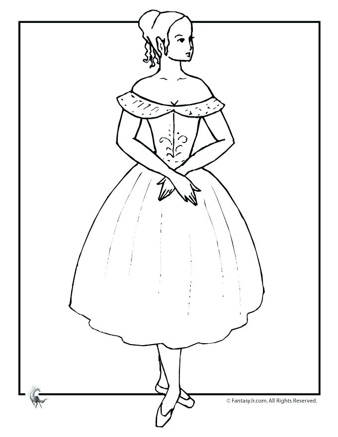 680x880 Flamenco Dancer Coloring Page