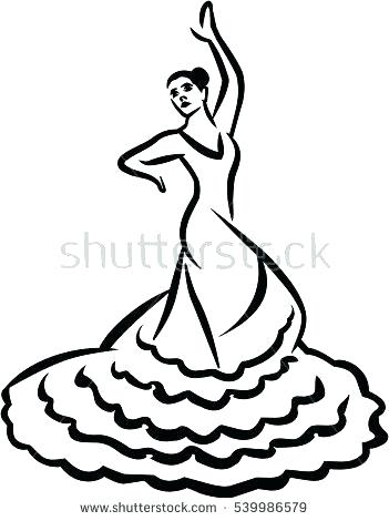 351x470 Flamenco Dancer Coloring Page Click To See Printable Version