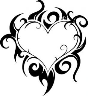 294x320 Pics Of Coloring Pages Of Hearts With Flames