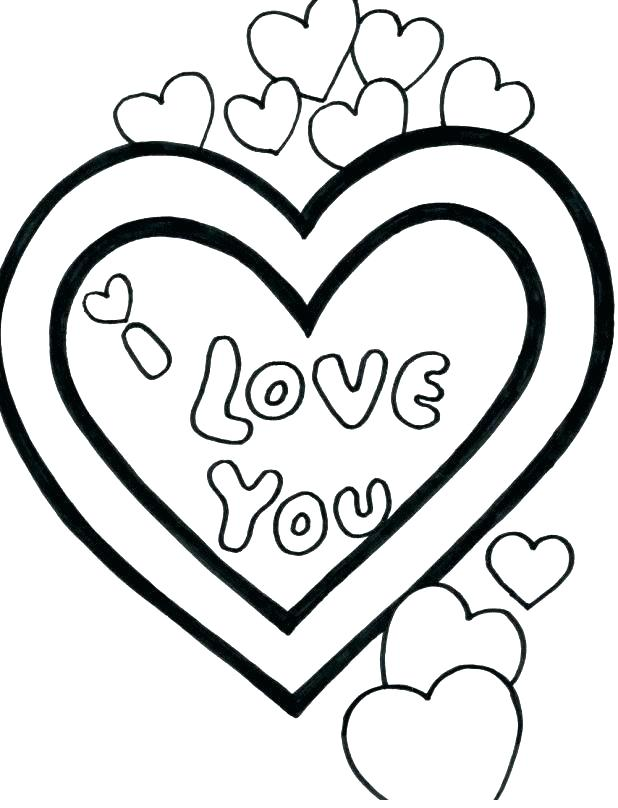 618x808 Coloring Pages Of A Heart