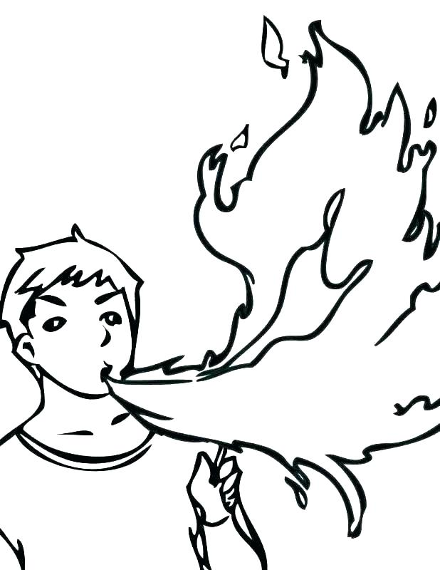 618x800 Flames Coloring Pages