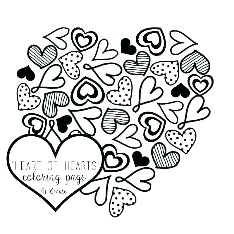 800x800 Coloring Page Of A Heart Hearts Coloring Page Roses And Hearts