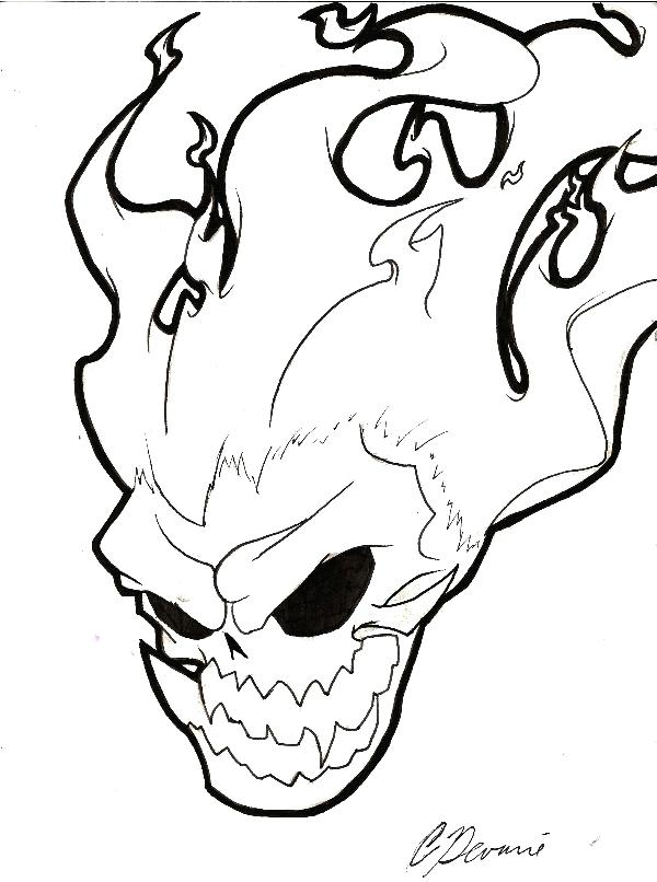 600x806 Flaming Skull Coloring Pages Cool Skull Colouring Pages Sugar