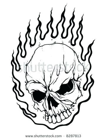 360x470 Flaming Skull Coloring Pages Home Improvement Store Melbourne