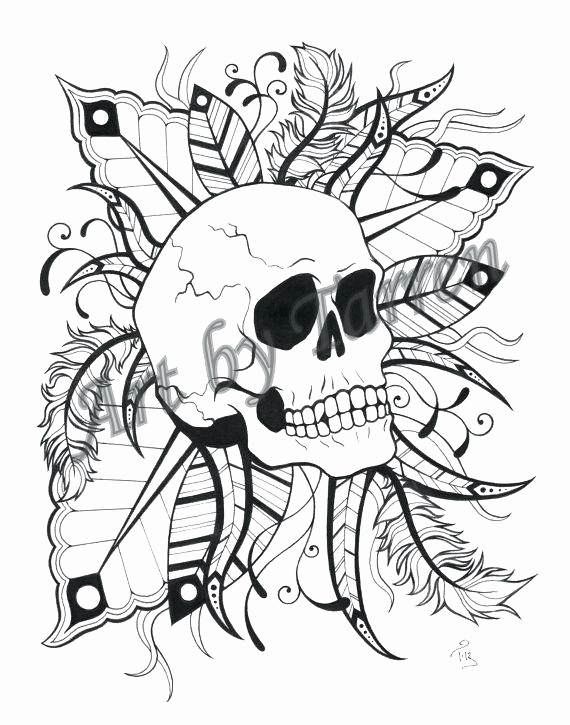 570x725 Flaming Skull Coloring Pages Leversetdujourfo Hobbit Printable