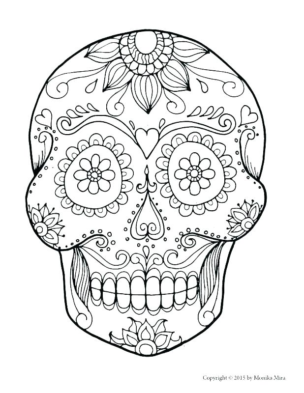 618x800 Coloring Pages Of Skulls With Flames Flaming Skull Coloring Page