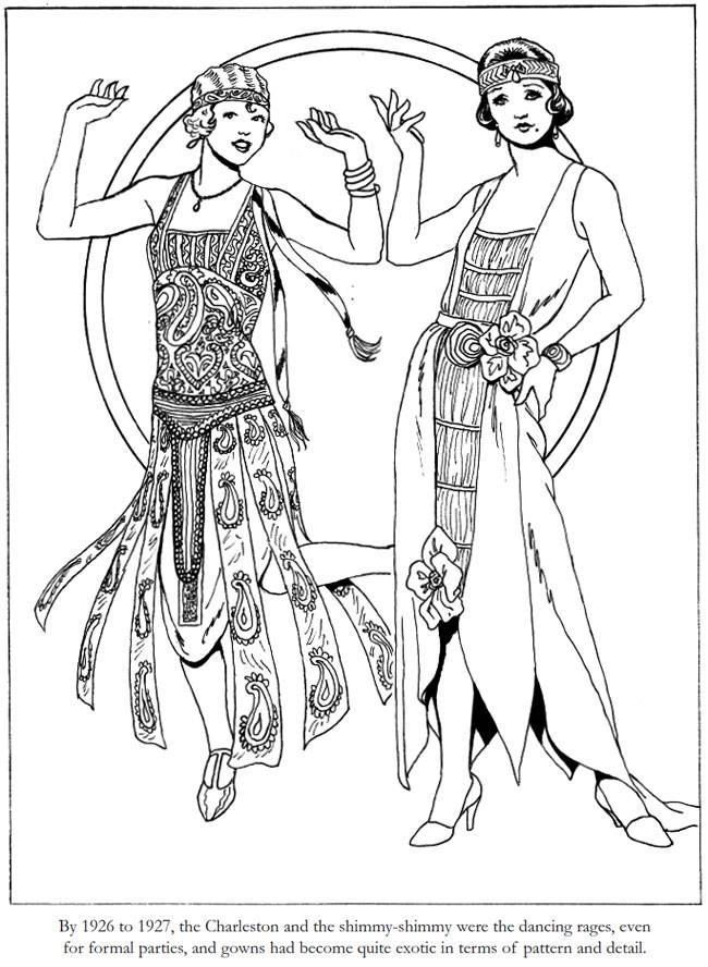 Flapper Coloring Page