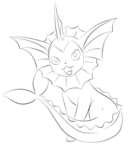 442x480 Flareon Coloring Pages Dream World Coloring Page